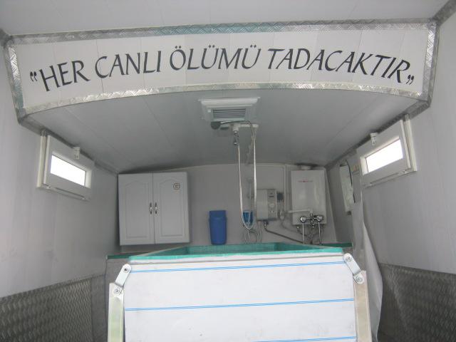 Otobüsten Cenaze Yıkama Aracı